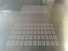 Braille dots milled into Thin plate